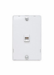 Legrand WMTE14W | On-Q | Modular Wall Mount Telephone Jack For Hanging Phones, White