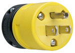 Legrand 1447 | Pass and Seymour | 15A, 125V Rubber Dust-Tight Plug, Yellow