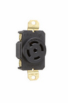 Legrand L2130-R | Pass and Seymour | 30 Amp L2130 Single Receptacle, Black
