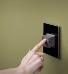 Legrand ARPTR151GM2 | Adorne Collection | Adorne 15A One-Gang Pop-Out Outlet, Magnesium