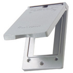Legrand CA26-GV | Pass and Seymour | Cast Weatherproof Cover Decorator or GFCI Vertical, Gray
