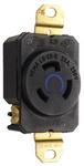 Legrand L620-R | Pass and Seymour | 20 Amp NEMA L620 Single Receptacle, Black