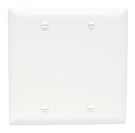 Legrand TP23W | Pass and Seymour | Blank Plates - Box Mounted, Two Gang, White