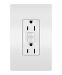 Legrand 1597-W | Radiant Collection | Radiant Spec-Grade 15A Self-Test GFCI Receptacle, White