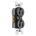 Legrand 3232-TR | Pass and Seymour | 15A/125V TradeMaster Tamper-Resistant Duplex Receptacle, Brown