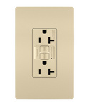 Legrand 2097-I | Radiant Collection | Radiant Spec-Grade 20A Self-Test GFCI Receptacle, Ivory