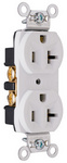 Legrand CRB5362-W | Pass and Seymour | Construction Spec Grade Receptacles, Back & Side Wire, 20A, 125V, White