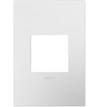 Legrand AWP1G2WHW10 | Adorne Collection | Adorne Gloss White-on-White One-Gang Screwless Wall Plate