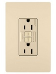 Legrand 1597-I | Radiant Collection | Radiant Spec-Grade 15A Self-Test GFCI Receptacle, Ivory