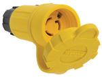 Legrand 25W47 | Pass and Seymour | 25W47 Watertight NEMA 4X/6P Locking Connector, Yellow