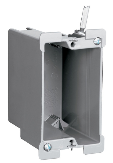 Legrand S118W | Pass and Seymour | Old Work Switch and Outlet Box with Quick/Click, Gray