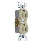 Legrand 3232-I | Pass and Seymour | 15A/125V TradeMaster Duplex Receptacle, Ivory