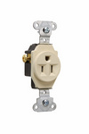 Legrand 5251-I | Pass and Seymour | Heavy-Duty Spec Grade Single Receptacle, Side Wire, 15A, 125V, Ivory