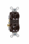 Legrand CR20 | Pass and Seymour | Commercial Spec Grade Receptacle, Side Wire, 20A, 125V, Brown
