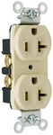 Legrand CRB5362-I | Pass and Seymour | Construction Spec Grade Receptacles, Back & Side Wire, 20A, 125V, Ivory
