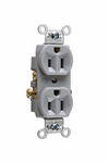 Legrand CR15-GRY | Pass and Seymour | Commercial Spec Grade Receptacle, Side Wire, 15A, 125V, Gray
