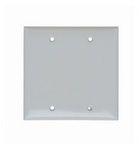Legrand SP23W | Pass and Seymour | Blank Plates - Box Mounted, Two Gang, White