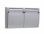 Legrand 3780-SC | Pass and Seymour | Thermoplastic Cover, Gray with Black Gasket
