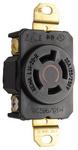 Legrand L1420-R | Pass and Seymour | 20 Amp NEMA L1420 Single Receptacle, Black