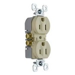 Legrand 3232-TRI | Pass and Seymour | 15A/125V TradeMaster Tamper-Resistant Duplex Receptacle, Ivory
