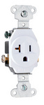Legrand 5351-W | Pass and Seymour | Heavy-Duty Spec Grade Single Receptacles, Side Wire, 20A, 125V, White