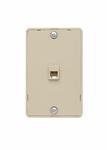 Legrand WMTE14I | On-Q | Modular Wall Mount Telephone Jack for Hanging Phones, Ivory