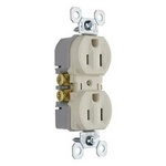 Legrand 3232-TRLA | Pass and Seymour | 15A/125V TradeMaster Tamper-Resistant Duplex Receptacle, Light Almond