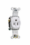 Legrand 5261-W | Pass and Seymour | Heavy-Duty Spec Grade Single Receptacles, Back & Side Wire, 15A, 125V, White
