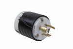 Legrand L620-P | Pass and Seymour | 20 Amp NEMA Plug L620 - Black Back, White Front Body