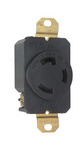 Legrand L530-R | Pass and Seymour | 30 Amp NEMA L530 Single Receptacle, Black
