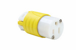 Legrand CR5269-X | Pass and Seymour | 15A, 125V Extra-Hard Use Spec-Grade Corrosion-Resistant Connector, Yellow