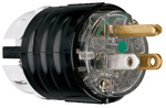 Legrand PS5266-XHG | Pass and Seymour | STR BLD PLUG 3W 15A 125V HG PS5266XHG, Black