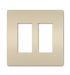 Legrand RWP262LA | Radiant Collection | Radiant Two-Gang Screwless Wall Plate, Light Almond