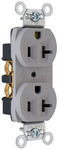 Legrand CRB5362-GRY | Pass and Seymour | Construction Spec Grade Receptacles, Back & Side Wire, 20A, 125V, Gray