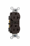 Legrand CRB5362-S | Pass and Seymour | Construction Spec Grade Smooth Face Receptacles, Back & Side Wire, 20A, 125V, Brown
