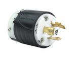 Legrand L720-P | Pass and Seymour | 20 Amp NEMA Plug L720 - Black Back, White Front Body