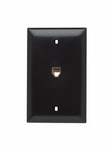 Legrand TPTE1 | On-Q | Communication Device, Single Gang Opening Modular Four Conductor Telephone Jack with Wall Plate, Brown
