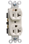 Legrand IG5362-W | Pass and Seymour | Isolated Ground Heavy-Duty Spec Grade Receptacles, Back & Side Wire, 20A, 125V, White