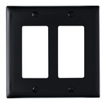Legrand TP262BK | Pass and Seymour | Decorator Openings, Two Gang, Black