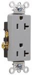 Legrand 26342-GRY | Pass and Seymour | Heavy-Duty Decorator Spec Grade Receptacles, Side Wire, 20A, 125V, Gray