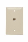 Legrand TPTE1I | On-Q | Communication Device, Single Gang Opening Modular Four Conductor Telephone Jack with Wall Plate, Ivory