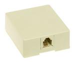 Legrand SMTE14I | On-Q | Surface mount modular RJ11 Telephone Jack, Ivory