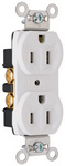 Legrand CRB5262-W | Pass and Seymour | Construction Spec Grade Receptacles, Back & Side Wire, 15A, 125V, White