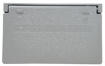 Legrand CA26-GH | Pass and Seymour | Cast Weatherproof Cover Decorator or GFCI Horizontal, Gray