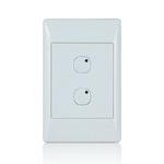 Leviton 113A00-3 | Omni-Bus 2-Button, Hardwired, White