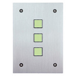 Leviton 113A00-6 | Omni-Bus 3-Button, Hardwired, Brushed Stainless
