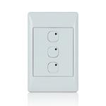 Leviton 113A00-5 | Omni-Bus 3-Button, Hardwired, White