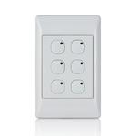 Leviton 113A00-8 | Omni-Bus 6-Button, Hardwired, White