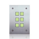 Leviton 113A00-9 | Omni-Bus 6-Button, Hardwired, Brushed Stainless