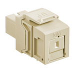 Leviton 41085-MIC | QuickPort Multimode Simplex SC Fiber Optic Adapter Module, Phosphor Bronze Sleeve, Ivory